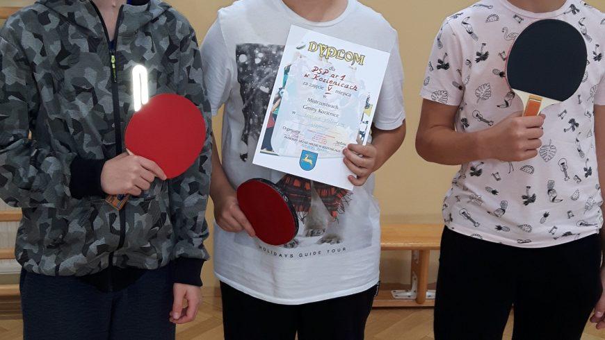Mistrzostwa gminy w tenisie stołowym